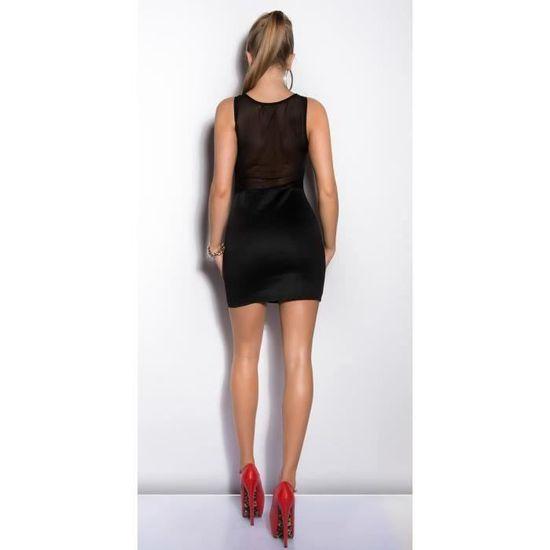 Robe Noire Moulante Droite Sexy Femme Noir Noir Achat Vente Robe Cdiscount
