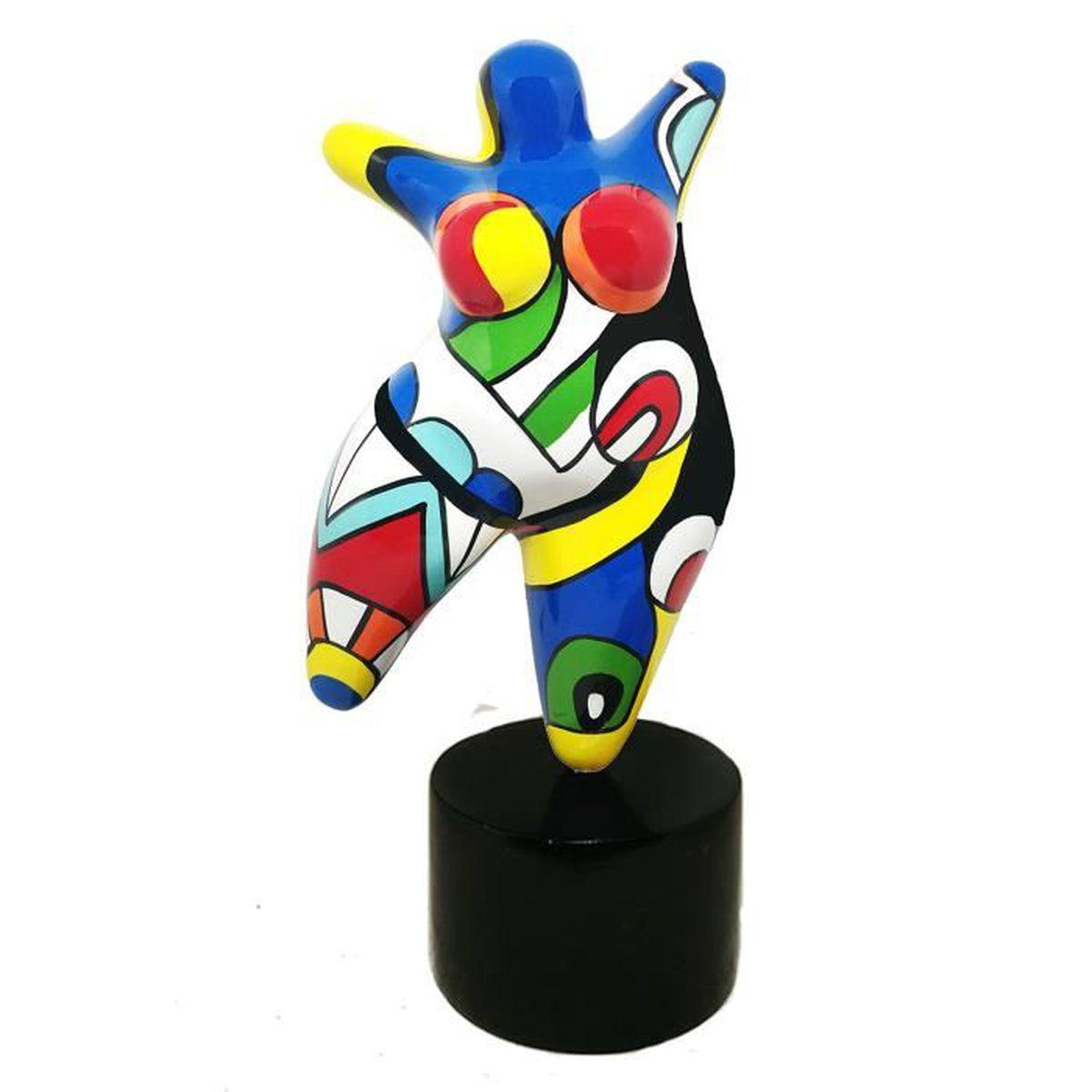 Style Nanas Niki de Saint Phalle Laure Terrier Statue de Femme Assise pour Collection ou d/écoration Hauteur 18 centim/ètres