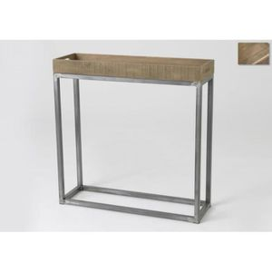 console en bois brut achat vente console en bois brut pas cher cdiscount. Black Bedroom Furniture Sets. Home Design Ideas