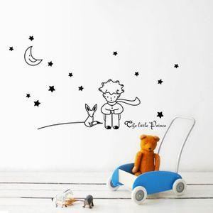 STICKERS Etoiles Lune Le Petit Prince Boy Autocollant Mural