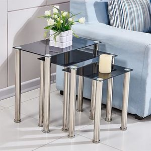 TABLE D'APPOINT 3 ensembles tables d'appoint Noir tables basse Rec