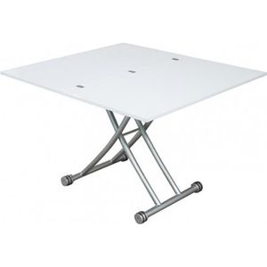 TABLE BASSE TABLE BASSE RELEVABLE CLEVER laqué Blanc Brillant
