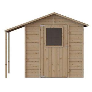 ABRI JARDIN - CHALET Abri de jardin bois + abri bûches - FSC - 4.21m²-