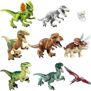 FIGURINE - PERSONNAGE  8Pcs Dinosaure Building Blocks Jurassic World din