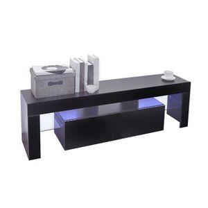 MEUBLE TV Meuble TV avec LED Design contemporain Noir 130 X