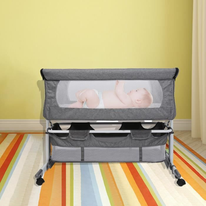 Berceau Bébé Lit Cododo Avec Matelas Moustiquaire - utilisable comme cododo, berceau, petit lit