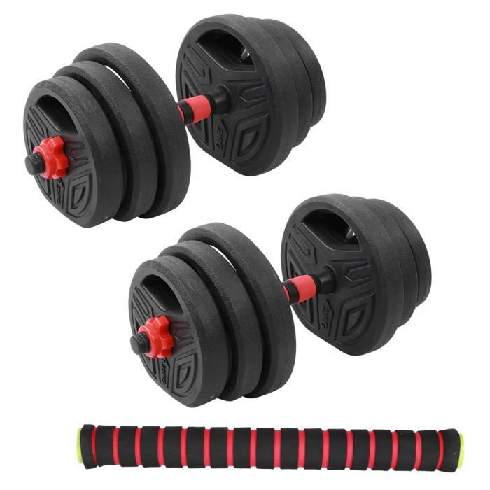 20KG Dumbbell Set Round Environmental Barbell Home Gym Equipment with 40cm Connecting Rod-GOL