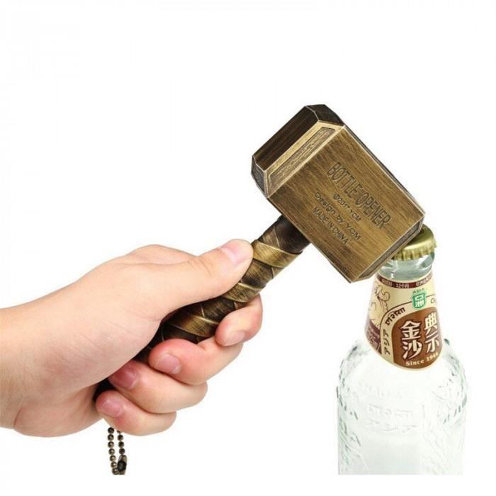Version 2 - Ouvre-Bouteille De Bière Marteau Thor En Forme Tire-Bouchon Vin Boisson Clé Ouvre-Bocal Pour Porte-Clés #41 #11