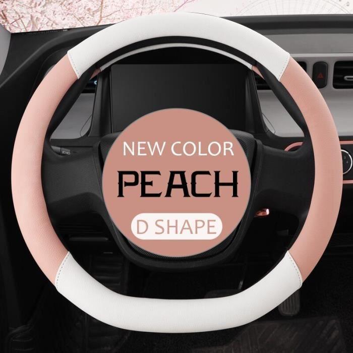 Housse de volant de voiture 38CM en cuir PU microfibre, housse pour volant de voiture 15 pouces pour golf-bmw [D64F43E]