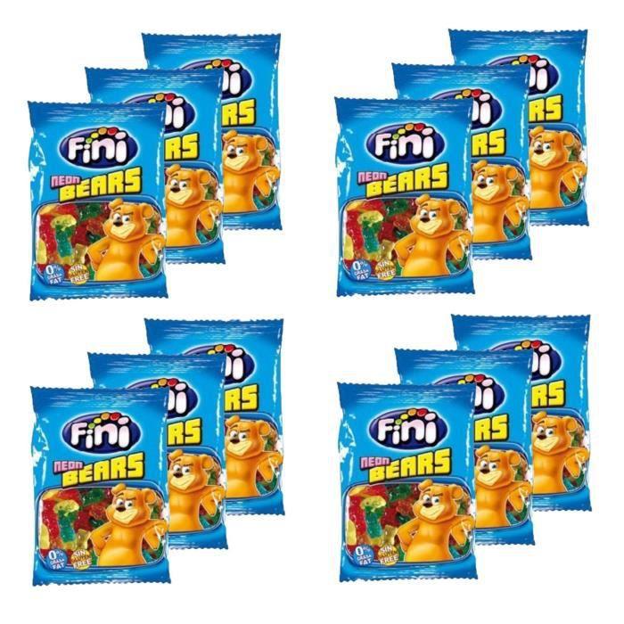 Lot 12x Bonbon ours lisse - Sachet 100g