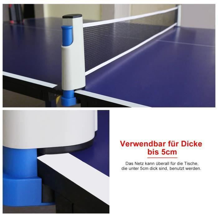Filet de Tennis de Table Rétractable pour Ping-Pong