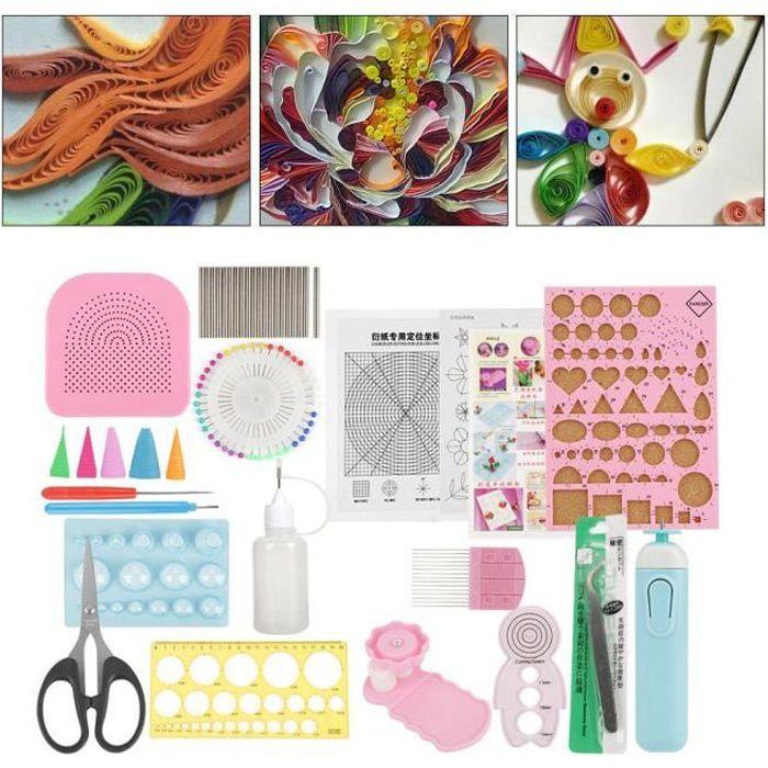 Quilling Tool Kit, 24pcs Craft Diy Slotted Paper Kits Quilling Tool Arts et Métiers d'art pour les débutants, Advanced Quiller,