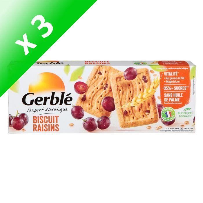 [LOT DE 3] Biscuits raisins 270 g Gerblé