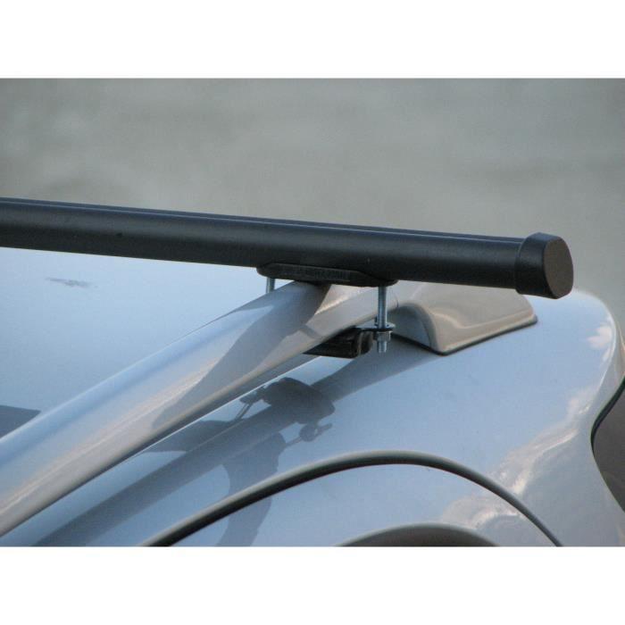 Barres de toit acier Totus DACIA Logan MCV Break-6 portes (2008- ) avec railing
