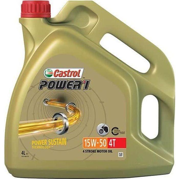 CASTROL Huile moteur Power 1 4T 15W-50 - 4 L