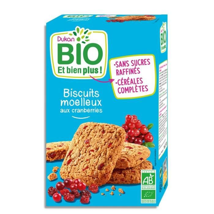 DUKAN Biscuits moelleux Bio aux cranberries - 150 g