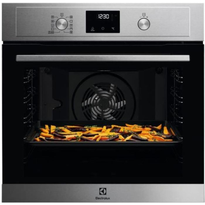 electrolux - four intégrable multifonction 72l 60cm a+ pyrolyse inox - eam4p45tx