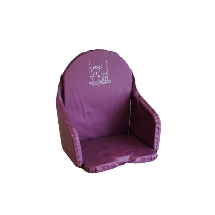 LOOPING Coussin Chaise Haute Cassis Prune