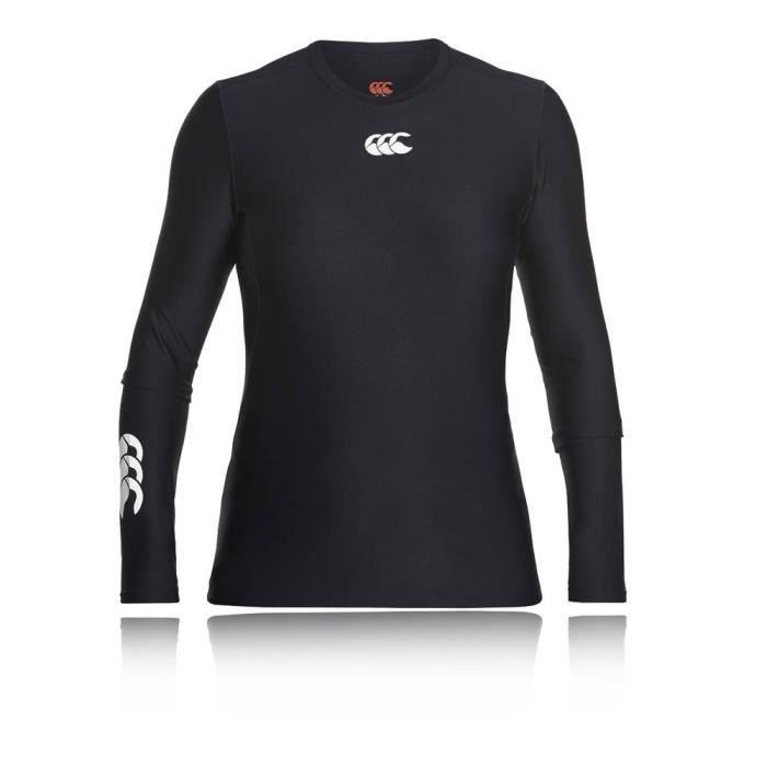 Canterbury Thermoreg Top Près Du Corps Entrainement Sport Running Femme Noir