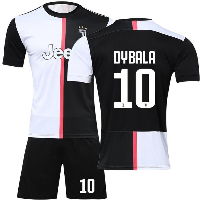 Maillot de Foot Short Football Soccer Nouveau Juventus NO.10 Paulo Dybala Maillot Domicile 2019-20 Pas Cher pour Homme