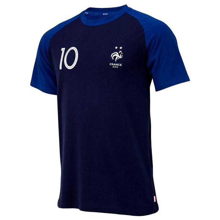 T-Shirt Équipe de France 'Kylian Mbappé' Enfant Officiel - Bleu