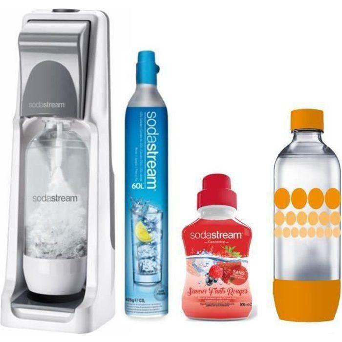 SODASTREAM Pack : Machine COOL Titan + concentré fruits rouges + bouteille Pet