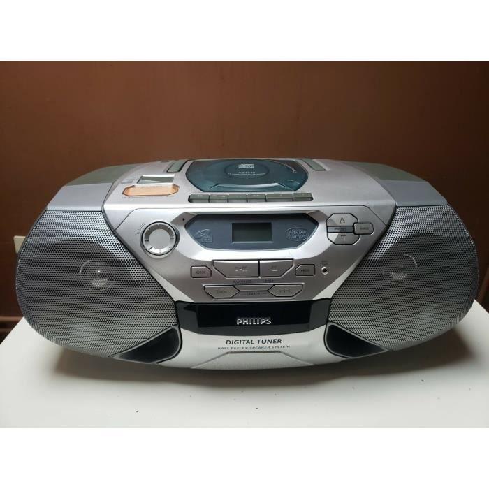 POSTE RADIO PORTABLE PHILIPS AZ1040 LECTEUR ENREGISTREUR CASSETTE CD BOOMBOX GHETTOBLASTER