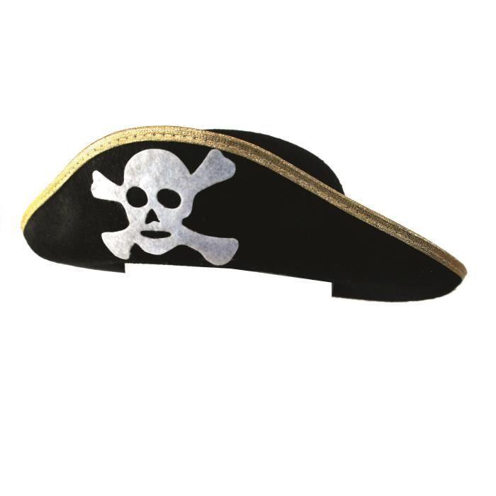 RUBIES Chapeau de Pirate - Taille unique - Accessoire de déguisement