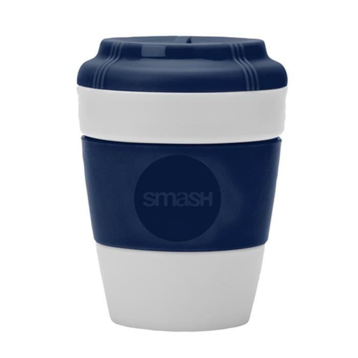 Mug de voyage bleu antidérapant 275 ml - Smash Bleu