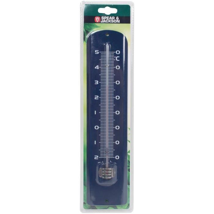 SPEAR & JACKSON Thermomètre métal 30 cm - Bleu roi