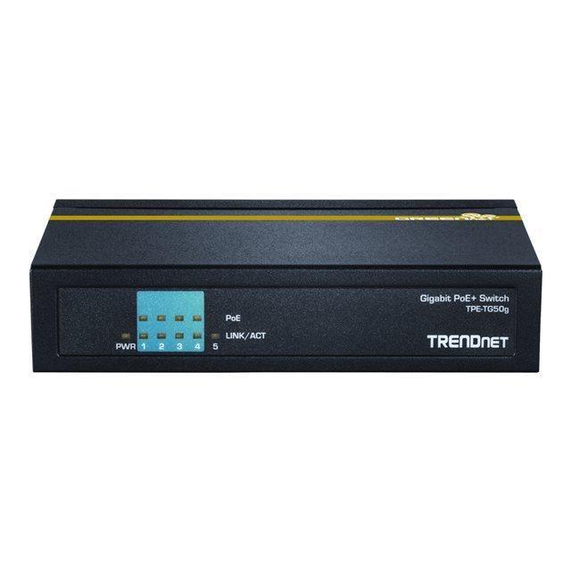 TRENDnet TPE-TG50g - Switch 5 ports Gigabit PoE+ (