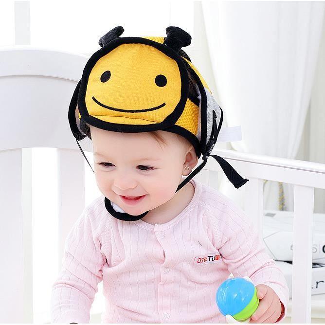 Casque de s/écurit/é b/éb/é B/éb/é en coton Apprendre /à marcher casque de protection de la t/ête anti-chute Casque de s/écurit/é pour enfants Ultra-l/éger
