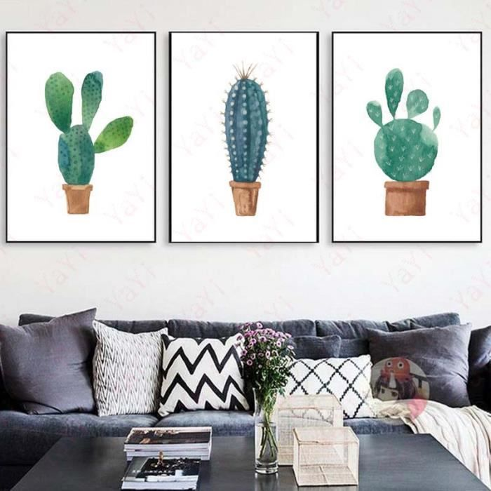 affiche cactus achat vente affiche cactus pas cher cdiscount. Black Bedroom Furniture Sets. Home Design Ideas