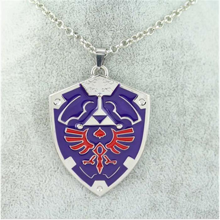 The Legend of Zelda Triforce Collier bouclier en forme de pendentif charms colliers