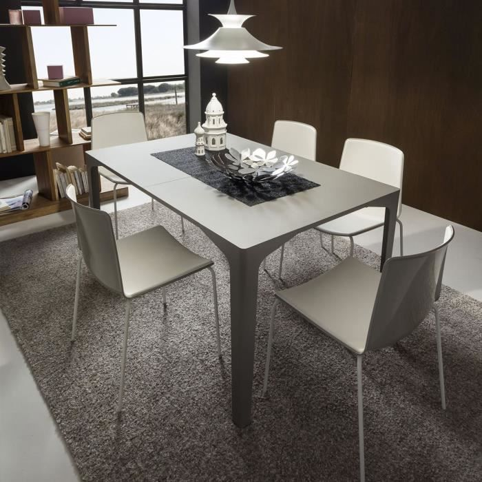 table console extensible design mattia taille 1 porphyre gris achat vente table a manger. Black Bedroom Furniture Sets. Home Design Ideas