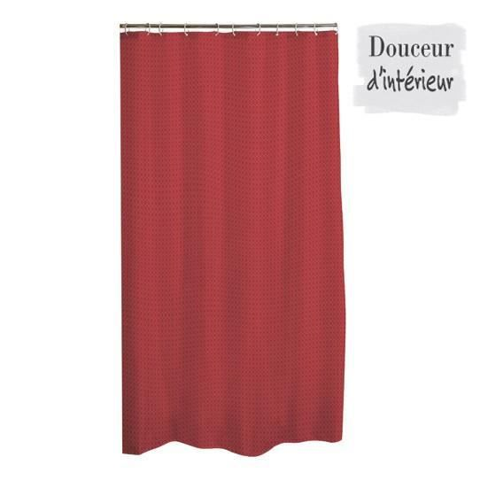 rideau de douche tissu uni diamant 180x200 cm rouge achat vente rideau de douche cdiscount. Black Bedroom Furniture Sets. Home Design Ideas