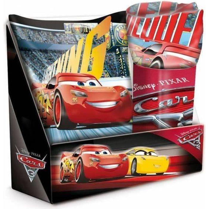 COUVERTURE - PLAID Coffret Coussin avec plaid Cars Disney