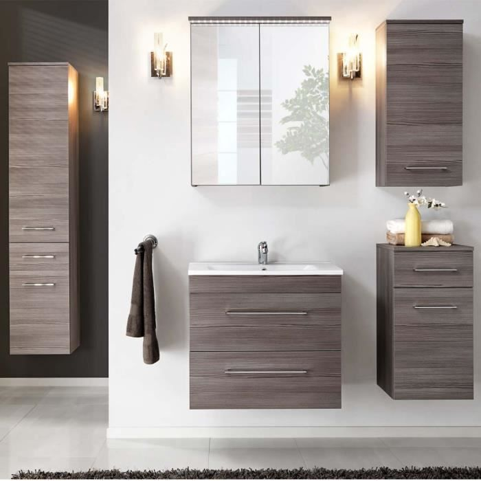 Meuble de salle de bain design cosmo atylia mati re mdf for Meuble de sale de bain