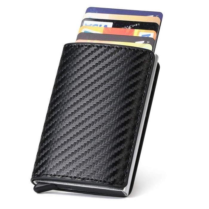 Portefeuilles en Cuir Slim Femmes Porte-Carte de cr/édit avec Porte-Carte de cr/édit Anti-RFID pour Hommes