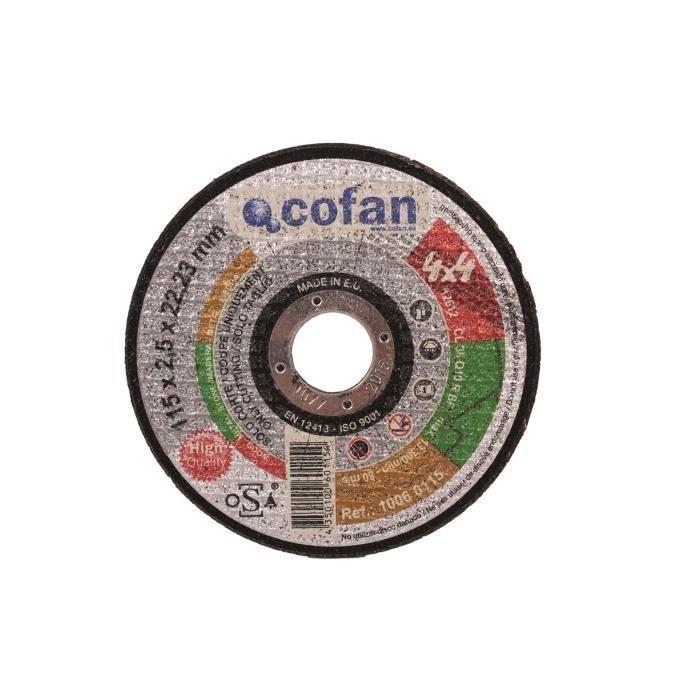 ACCESSOIRE MACHINE COFAN DISQUE DE COUPE 4X4 DE 115X2,5X22,2