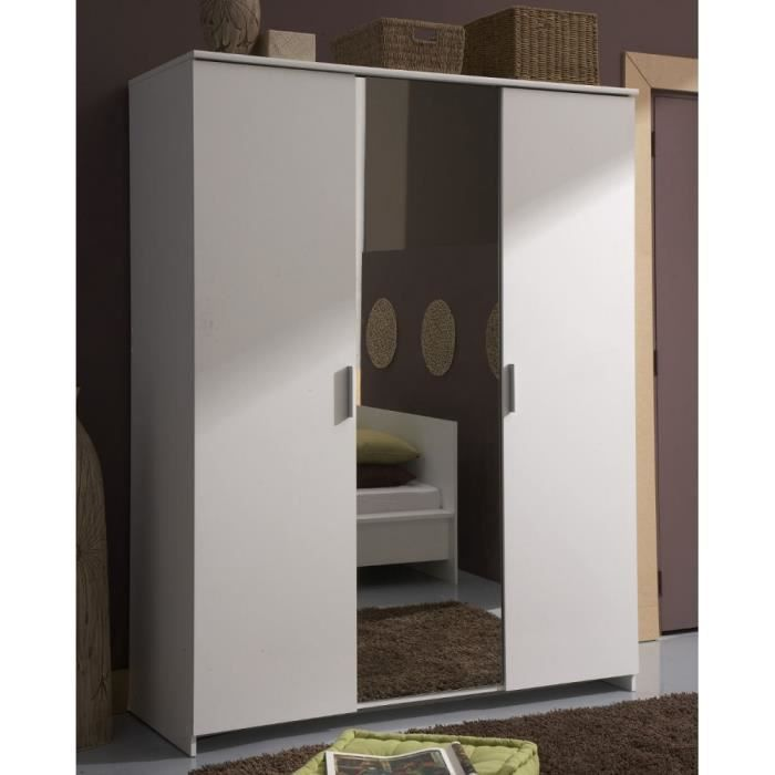 armoire 3 portes miroir esther achat vente armoire de chambre armoire portes miroir. Black Bedroom Furniture Sets. Home Design Ideas