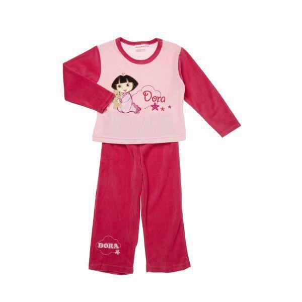 pyjama velours dora 2 ans rose achat vente chemise de. Black Bedroom Furniture Sets. Home Design Ideas