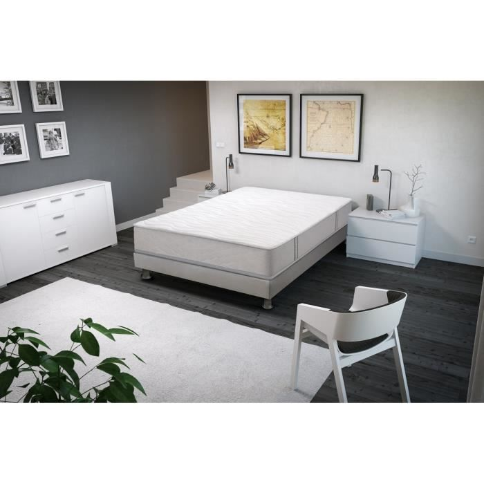 songe ensemble matelas sommier 160x200 cm ressorts ferme 713 ressorts ensach s 2. Black Bedroom Furniture Sets. Home Design Ideas