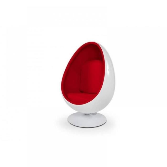 fauteuil oeuf boule design egg ball chai blanc achat. Black Bedroom Furniture Sets. Home Design Ideas