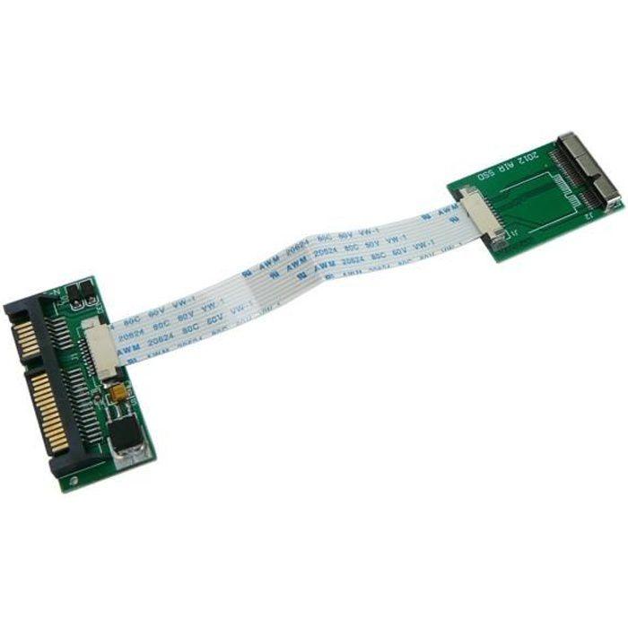 CARTE CONTROLEUR Adaptateur SATA FLEXIBLE pour SSD MACBOOCK 17+7