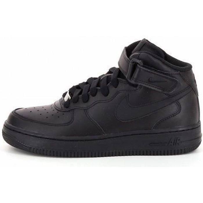 bd7392085b09f Basket Nike Air Force 1 Mid (GS)... Noir Noir - Achat   Vente basket ...