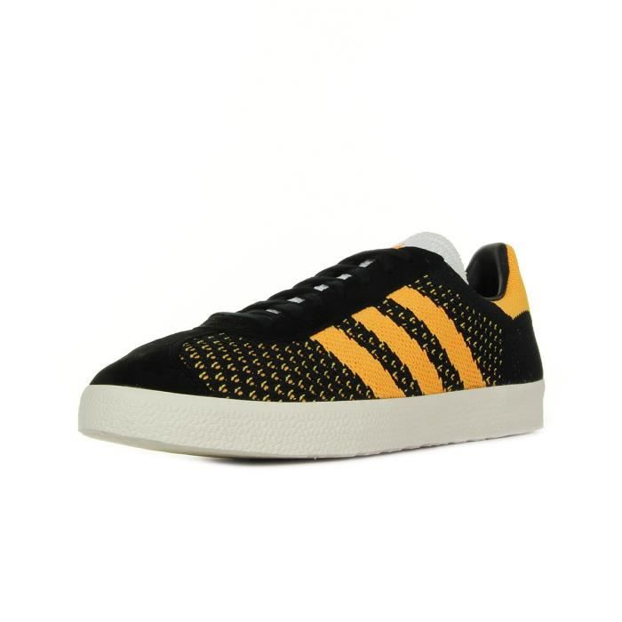 size 40 release date clearance prices Baskets adidas Originals Gazelle Primeknit PK Noir, orange ...