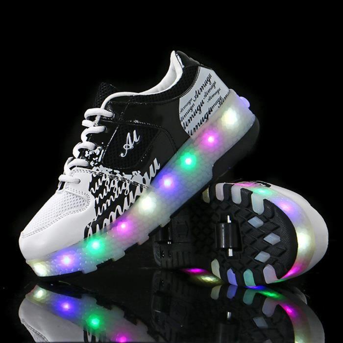 Skateshoes Enfants LED Chaussures Roller Baskets