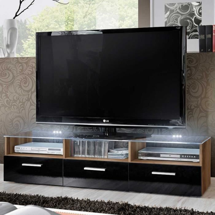 paris prix meuble tv design fresh 150cm brun noir. Black Bedroom Furniture Sets. Home Design Ideas