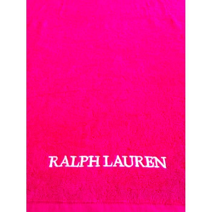 drap de plage ralph lauren fushia achat vente serviette de plage cdiscount. Black Bedroom Furniture Sets. Home Design Ideas